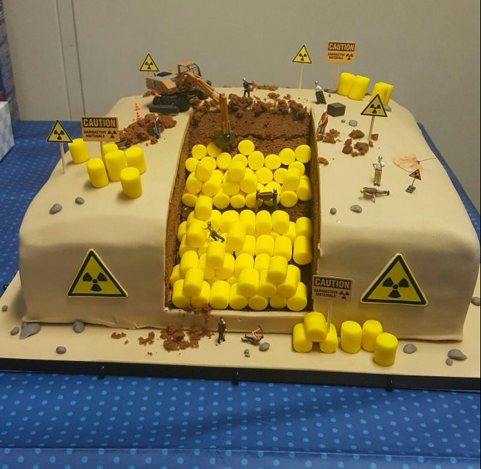 Radioactive Waste Birthday Cake