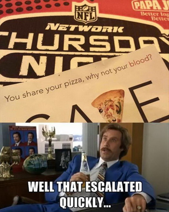 funny pics, lol, that escalated quickly, pizza jokes