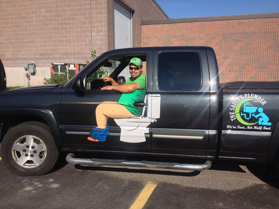 This Plumber's Truck Decal Is Genius