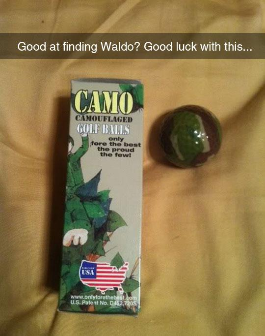 funny pics, lol pics, good luck, golf balls