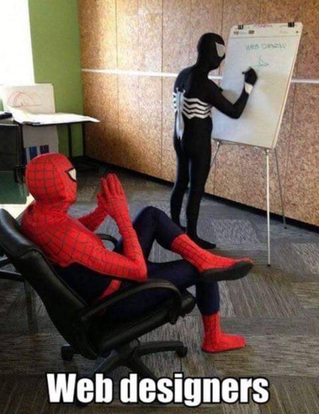 web designers, lol, funny pics, spiderman