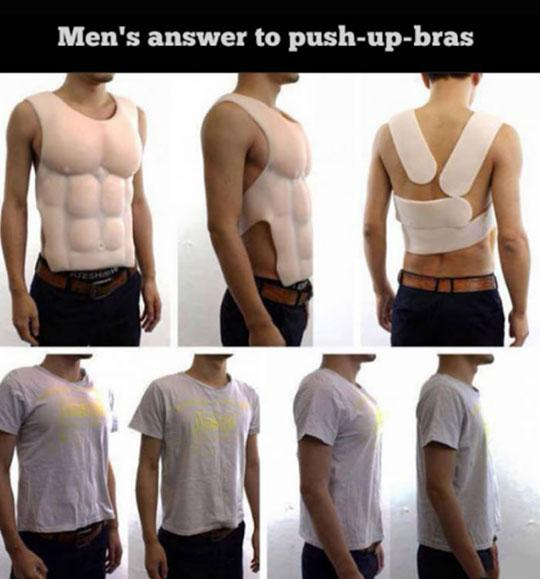 funny pics, lol pics, push-up bra for men