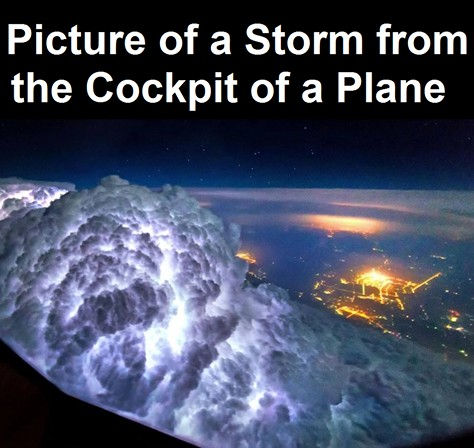 storm cloud from the plane