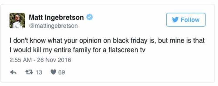 Hilarious Tweets About Black Friday
