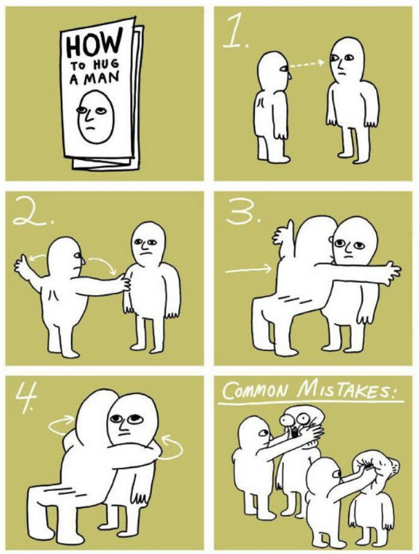 funny pics, lol pics, useful tips, hugging, hugs, how to hug a man