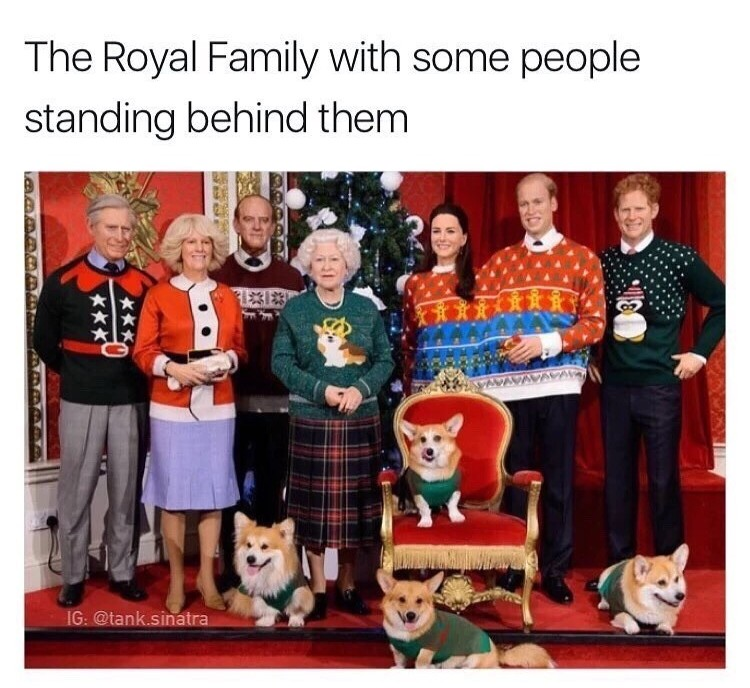 royal family Christmas sweater meme