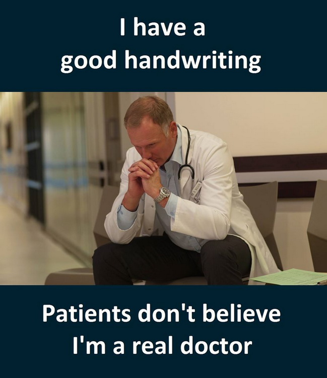 funny pics, lol pics, handwriting jokes, doctors humor,
