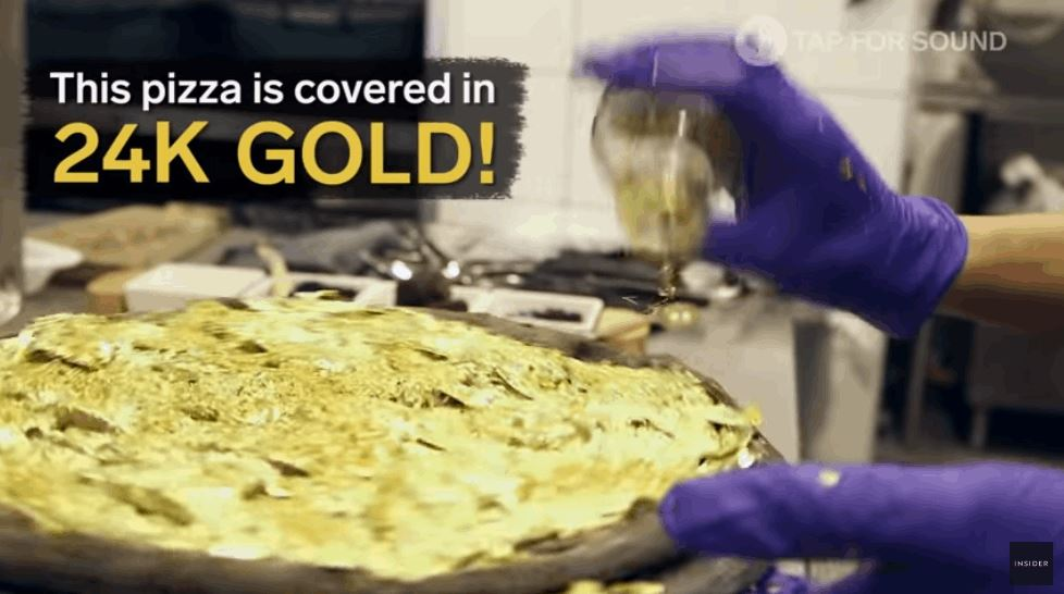 $2000 Pizza Is Topped With Real Gold