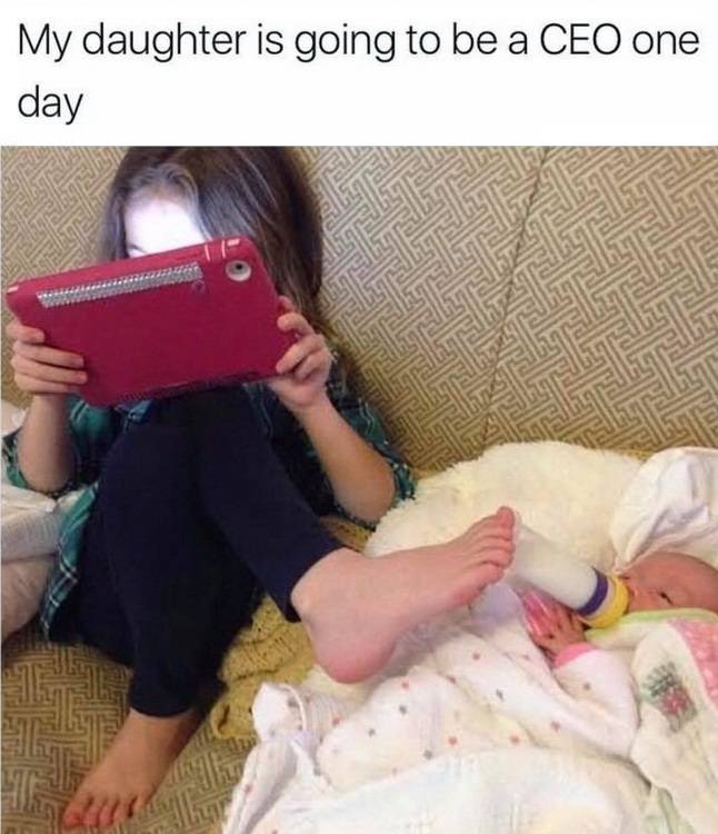 funny pics, lol pics, cute kids, funny kids, multitasking