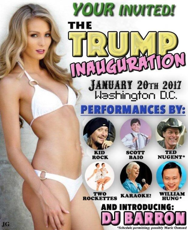 Trump Inauguration Flyer
