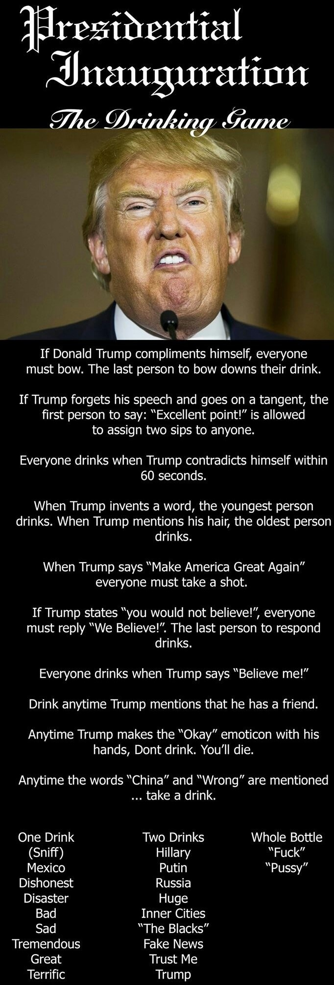 Presidential Inauguration Drinking Game