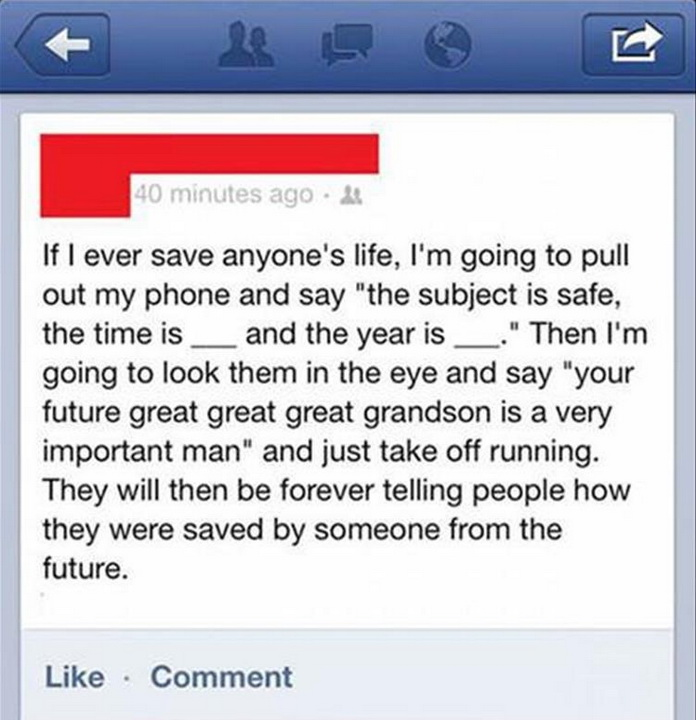 funny statuses, lol, man from a future, cool