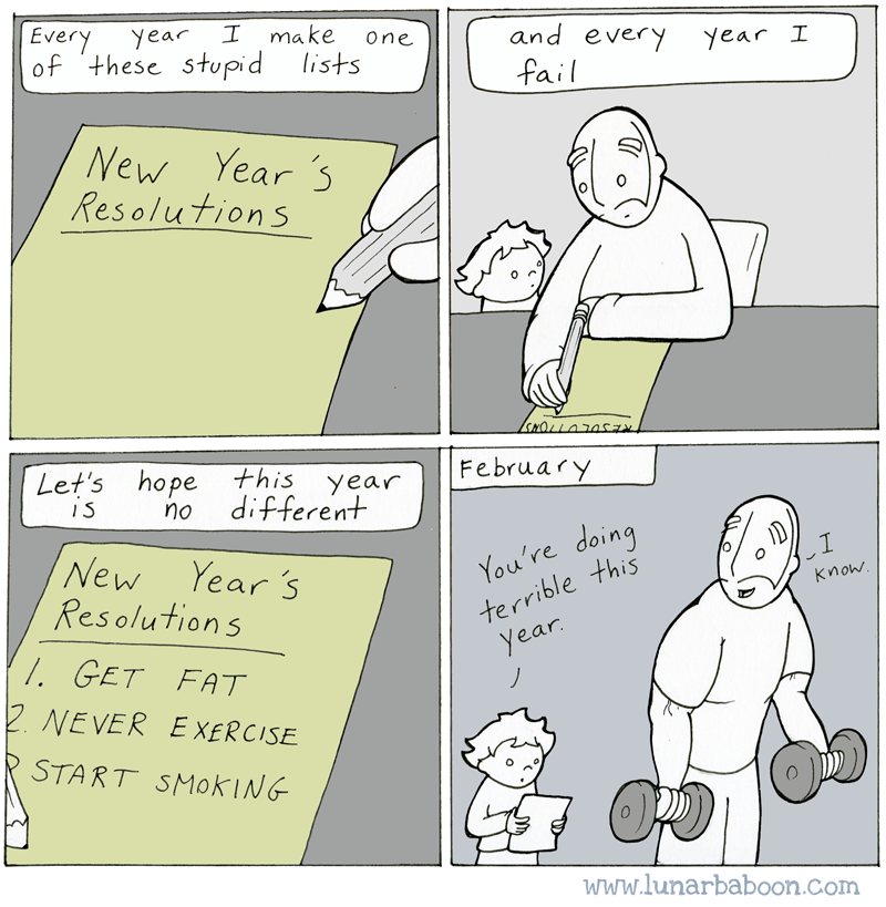 funny pics, lol pics, New year resolutions, reverse psychology