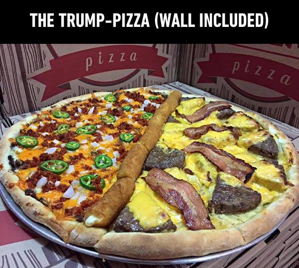 The Trump-Pizza (Wall Included)