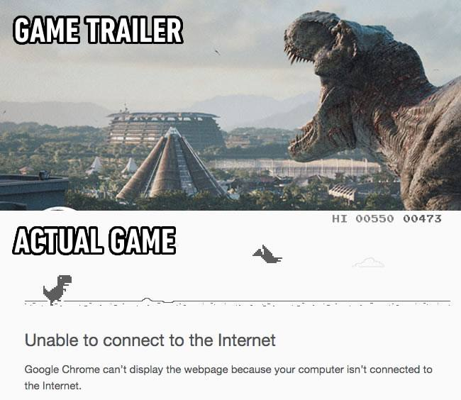 trailer vs game