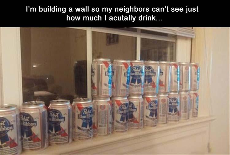 funny pics, lol, beer, proud alcoholic, beer cans