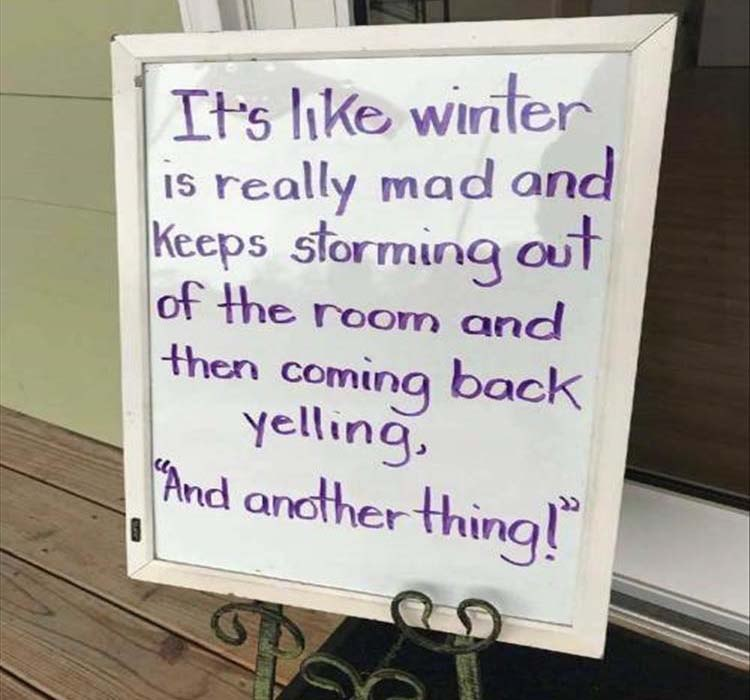 funny pics, lol, weather jokes, winter jokes