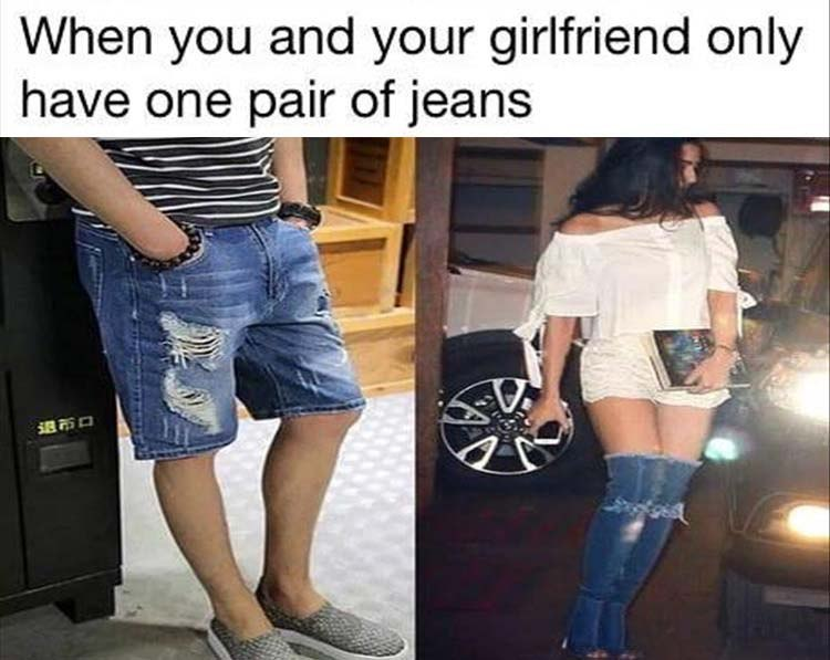funny pics, lol pics, sharing is caring, jeans jokes