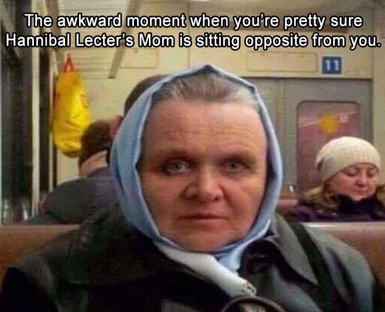 funny pics, lol pics, hannibal lecter, anthony hopkins double