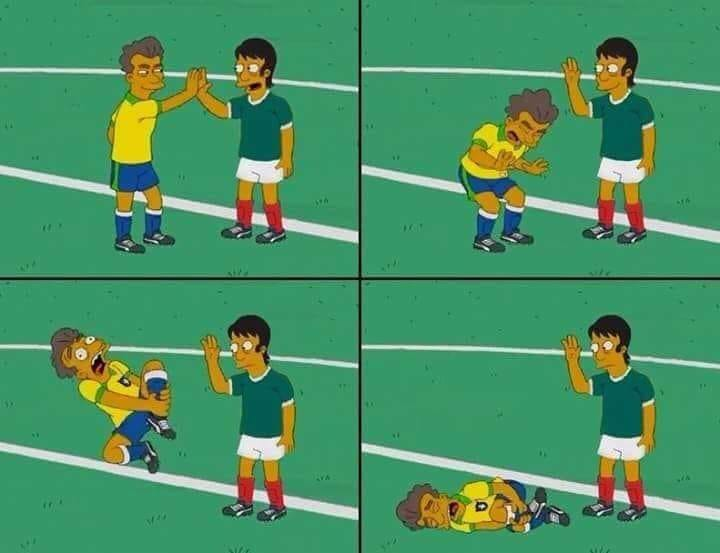 funny pics, lol, neymar humor, neymar fails, simpsons, world cup 2018