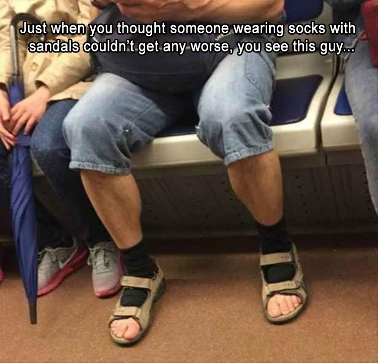 funny pics, lol pics, lol, sandals with socks,