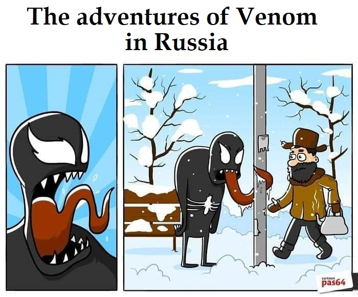 funny comics, lol, Venom humor, The adventures of Venom in Russia