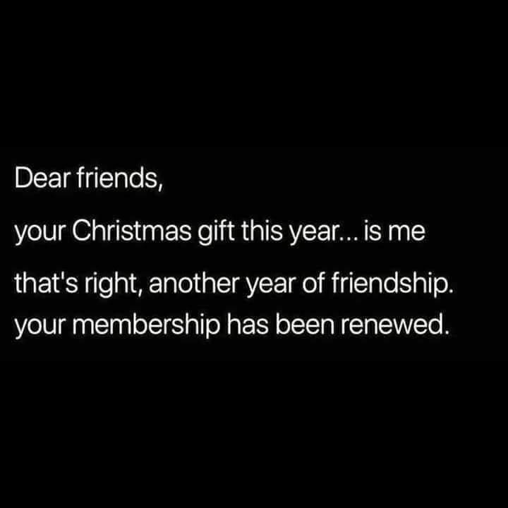 funny texts, lol, dear friends, Christmas gift