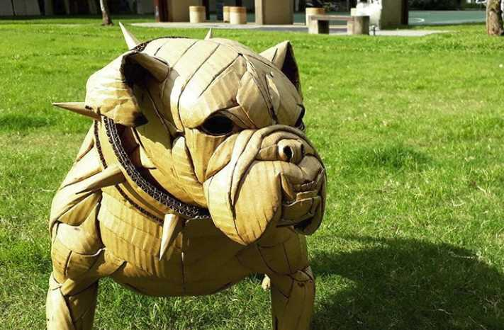 Sculptures Created From Cardboard