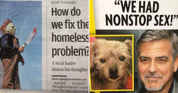 Hilarious Newspaper Layouts