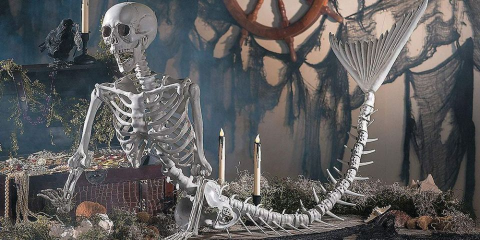 Mermaid Skeleton For Halloween Decoration