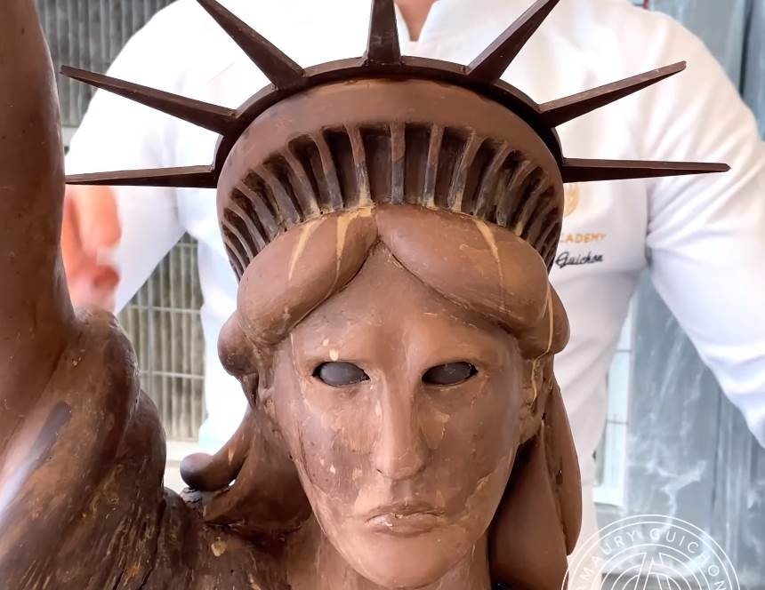 Chocolate Replica of the Statue of Liberty